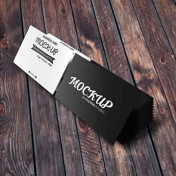 115 free business card mockups freebie business card 2 stacks reheart Images