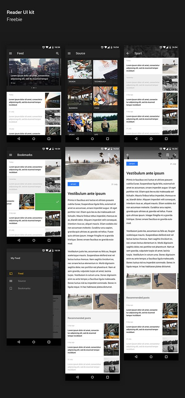 Reader UI kit Android