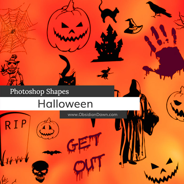 Halloween Photoshop Custom Shapes