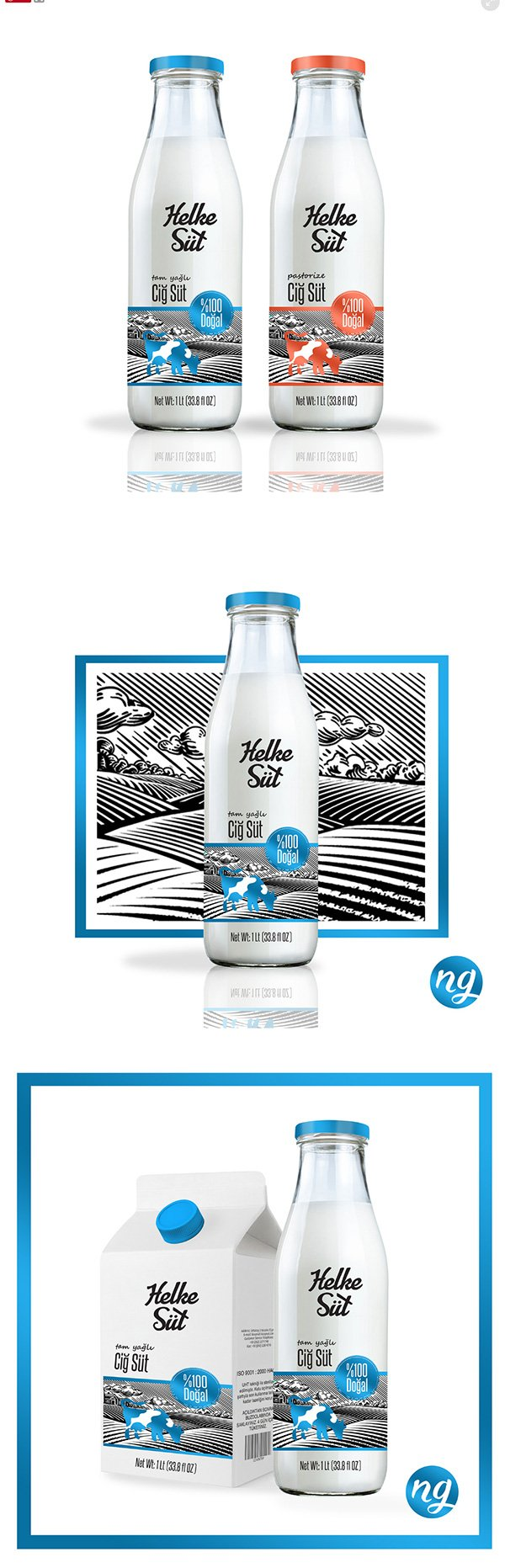 Helke Milk Packaging Design