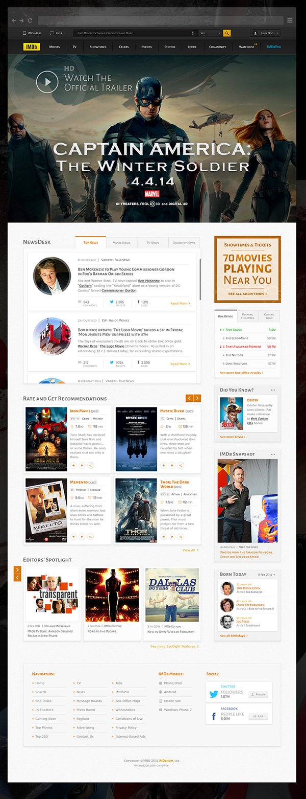 IMDB Home Page Redesign