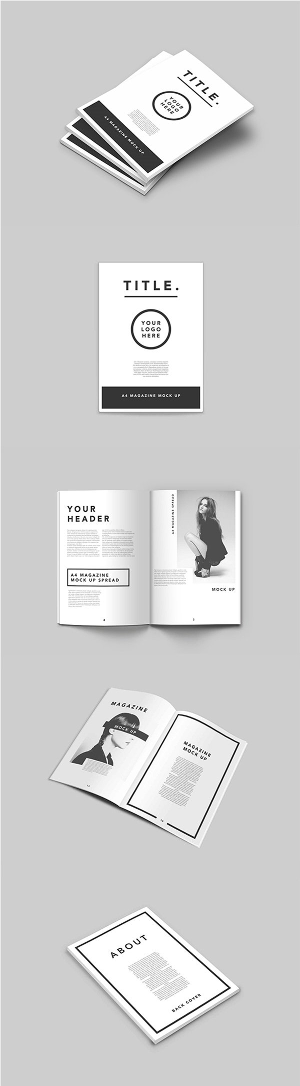 brochure mock up template - 75 free psd magazine book cover brochure mock ups