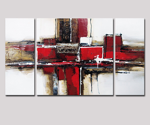 Noah - Black and Red Abstract Art