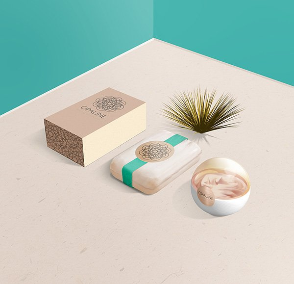PSD Display Mockup for Cosmetic Branding