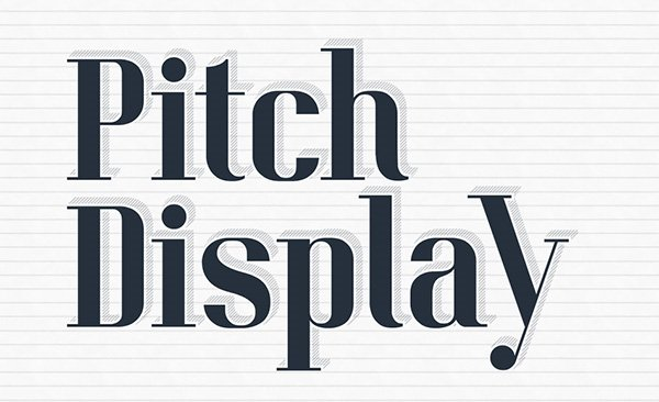 Pitch Display Typeface