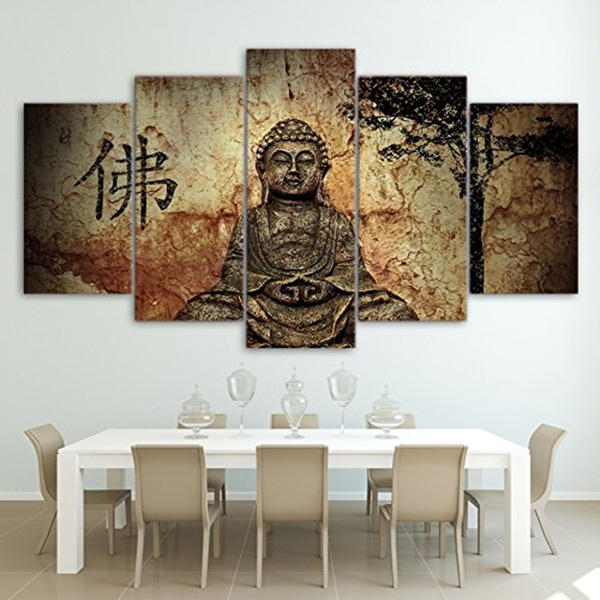 Buddha-3 Painting - Canvas Print With Wooden Frame