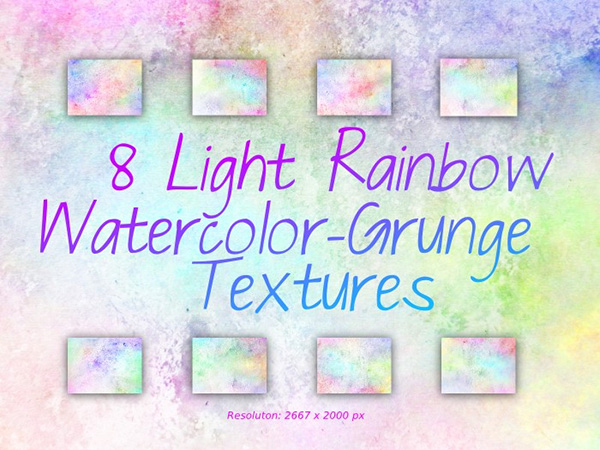 Rainbow WaterColor Grunge Textures