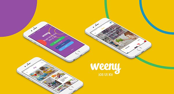 Weeny iOS UI Kit (Free Sample)