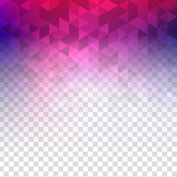 Abstract Colorful Transparent Polygonal Background - Free Vector