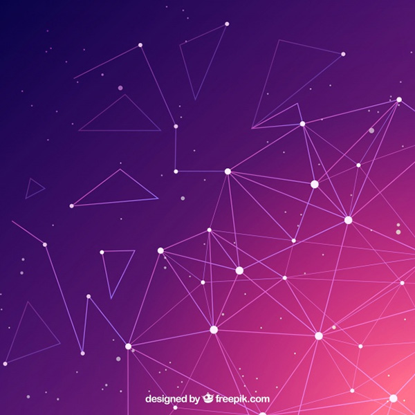 Technology Background with Gradient Colors - Free Vector