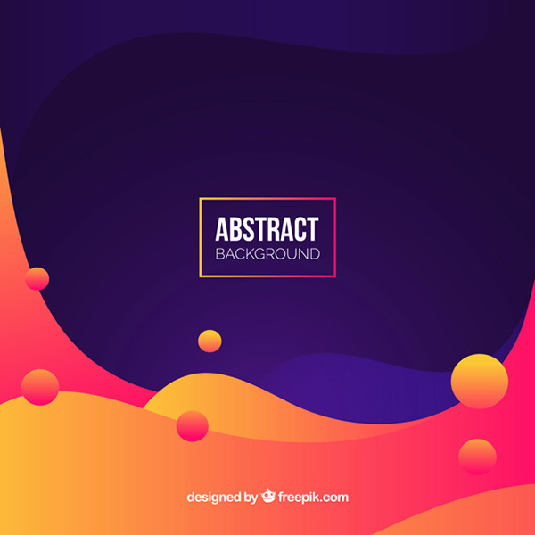 Colorful Background with Abstract Style - Free Vector