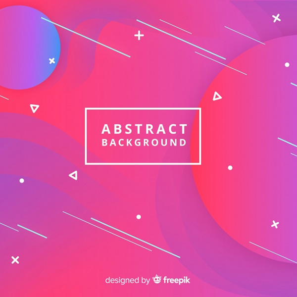 Abstract Background with Shapes - Free Vector
