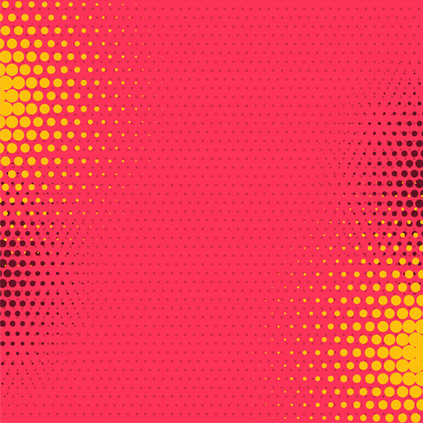 Abstract Comic Style Halftone Background - Free Vector
