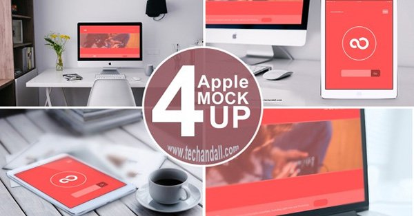 Apple Family Mock up PSD