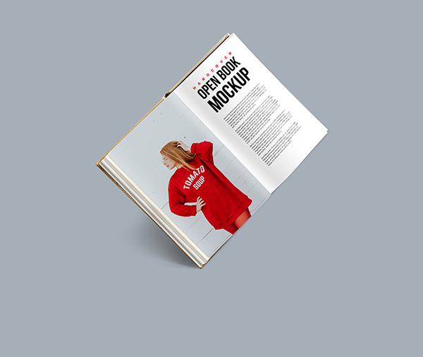 Hardcover Open Book PSD - Free Mockup