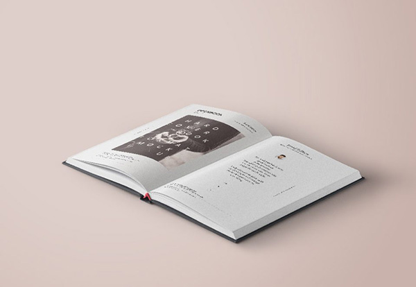 Open Hardcover Book Mockup - Free PSD
