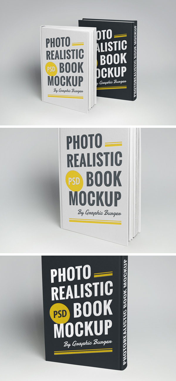 Hardcover Book MockUp - Free PSD