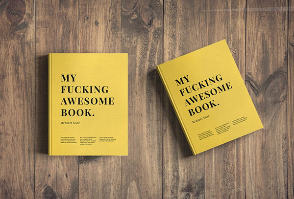 2 Books on Table - Free Mockup