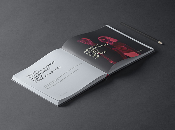 Square Psd Hardcover Book Mockup 2