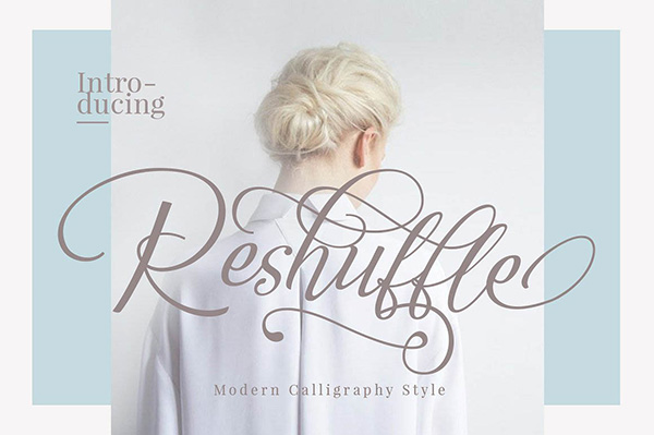 Reshuffle - Free Calligraphy Script Font