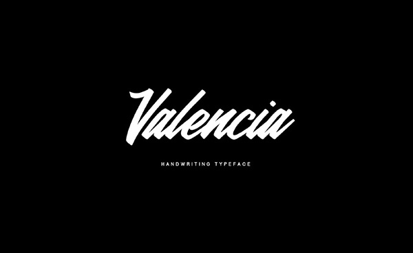 Valencia - Free Calligraphy Brush Font