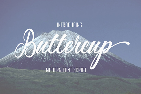 Buttercup - Free Cursive Calligraphy Font