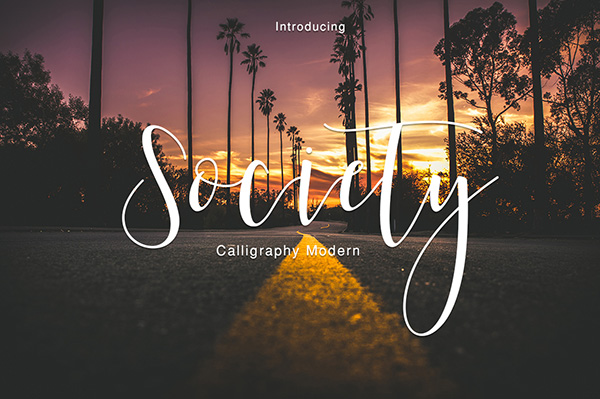 Society - Stylish Curly Calligraphy Font