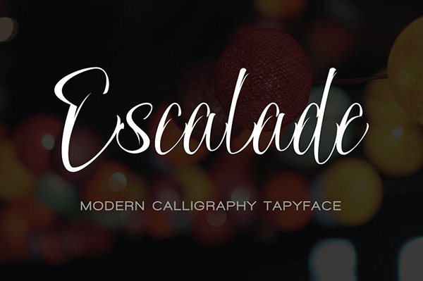 Escalade - Invitation Calligraphy Fonts