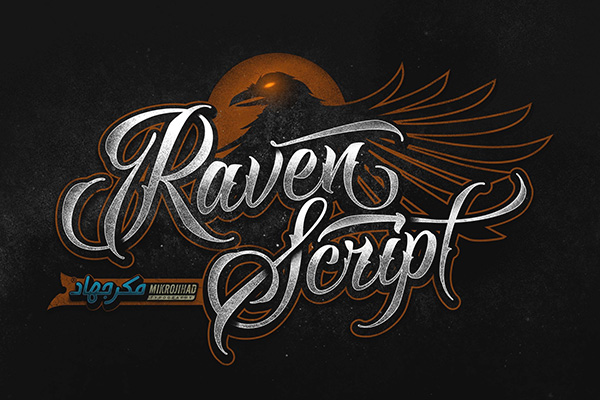 Raven Script - Dark & Scary Calligraphy Font