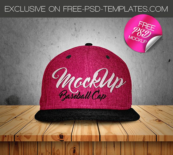Free Baseball Cap Mock-up in PSD