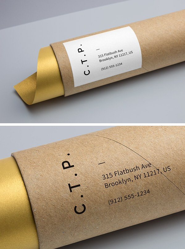 Cardboard Tube Packaging MockUp