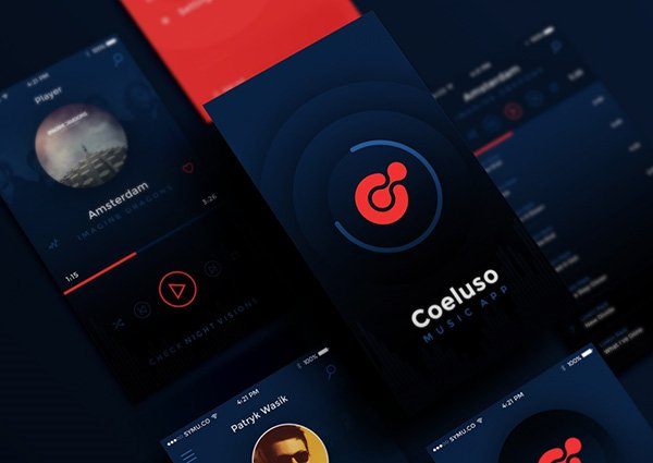 Coeluso Mobile App Free PSD