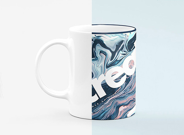 Realistic Sublimation Mug Mockup Set