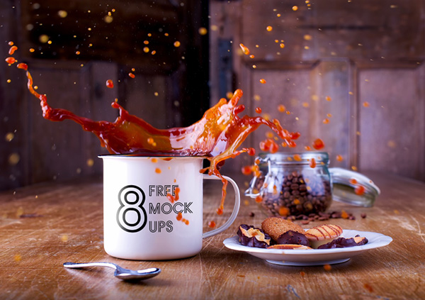8 Free Hot Coffee Cup Mockups
