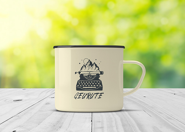 Enamel Mug - Free Mock-Up