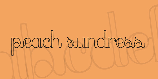 Peach Sundress - Cursive Heading Font