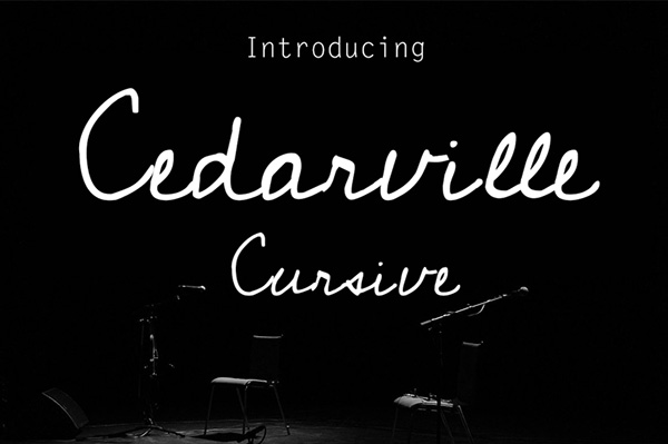 Cedarville Free Cursive Handwriting Font