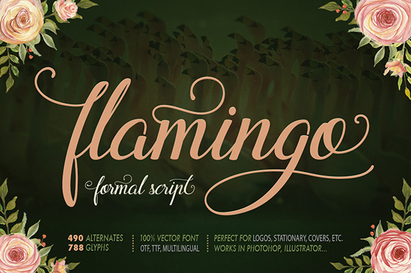 Flamingo - Formal Cursive Script