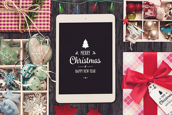 Christmas iPad Display Mock-up #1