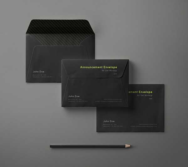 Envelope Mockup Set A6