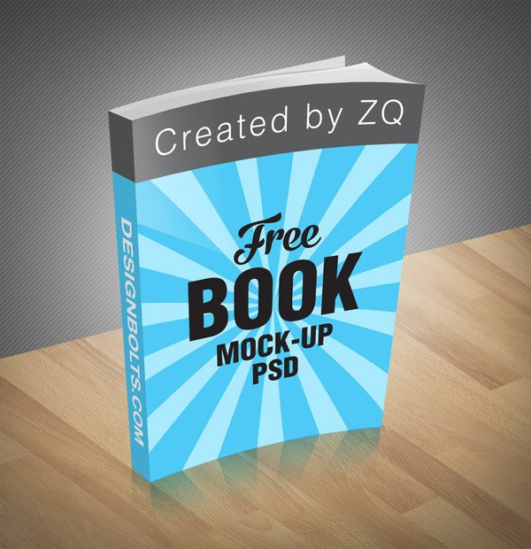 Free Book Mock-up PSD