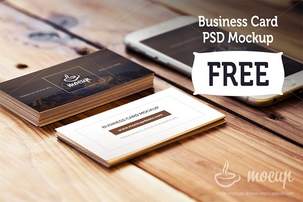 115 free business card mockups free business card mockup with iphone reheart Images