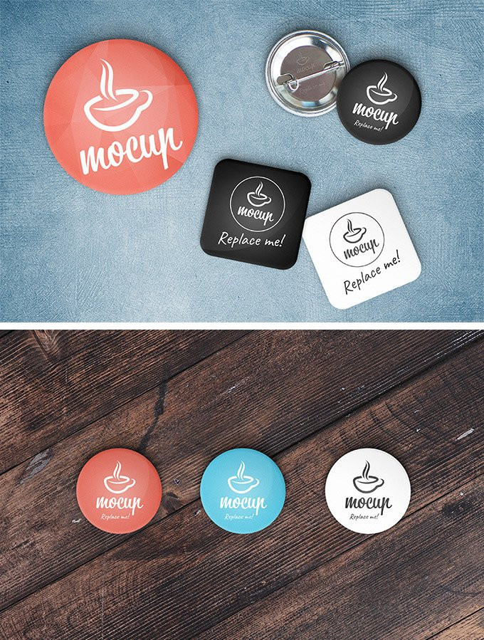 Button Badge Mockup
