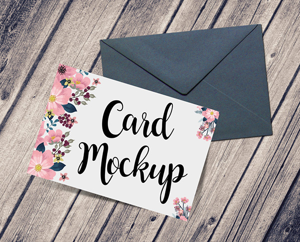 Card & Envelope Mockup