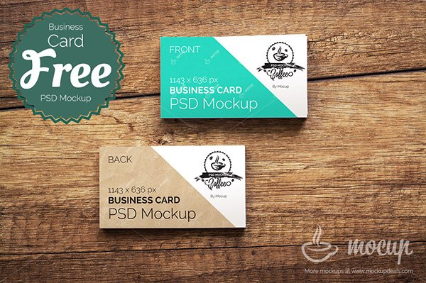 HighQuality Free Business Card Mockups PSD - Front and back business card template
