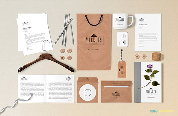 Classic Stationery Mock-up Scene builder