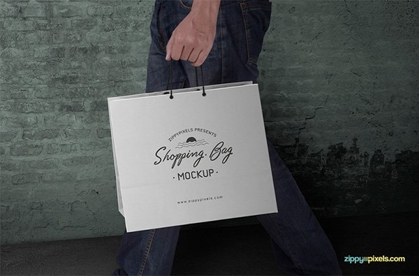 Customizable Shopping Bag Mockup PSD