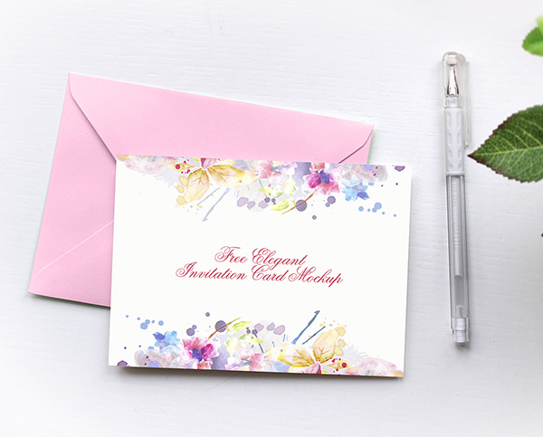 Elegant Invitation Card Mockup. Price: Free