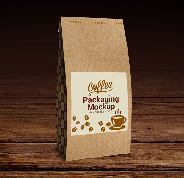 High Quality Coffee Packaging Mock-up PSD