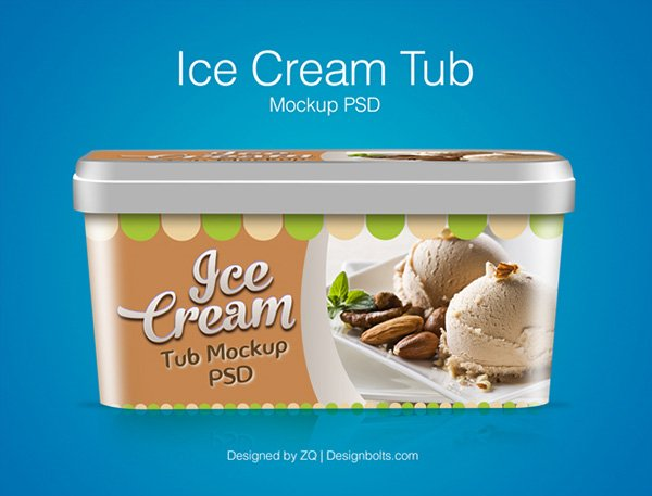 Ice Cream Tub Packaging Design Template